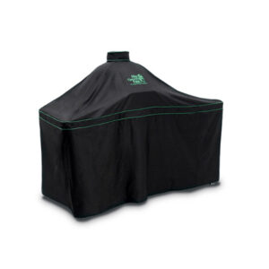 Big Green Egg cover for large egg in Acacia table