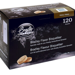 Bradley Bisquettes Hickory (120 Pack)