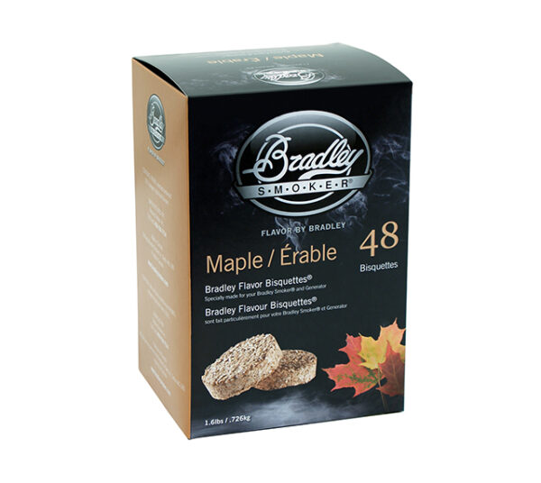 Bradley Bisquettes Maple (48 Pack)