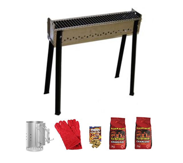 Ferraboli Medium Skewer Grill Bundle