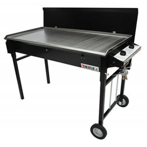 Heatlie 1150mm Black Powder Coated Mobile BBQ