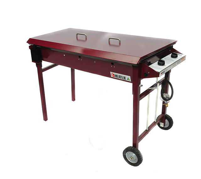 Heatlie 1150mm Claret Powder Coated Mobile BBQ
