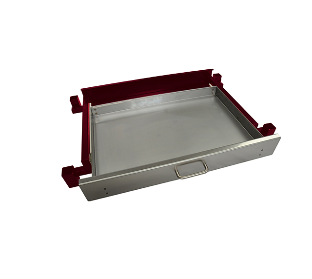 Heatlie 700mm Claret Powder Coated Warming draw