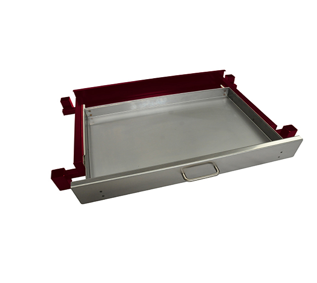 Heatlie 850mm Claret Powder Coated Warming draw