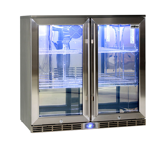 Rhino GSP 2 Door Fridge 865mm high
