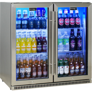 Schmick Stainless Steel Two Door Fridge