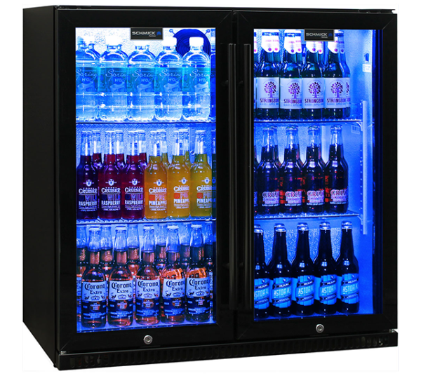 Schmick Black Two Door Fridge